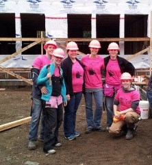 The Flying Hammers helped on the site a number of times during the Hilchey build. They were always willing to jump in a try anything; such great team players!