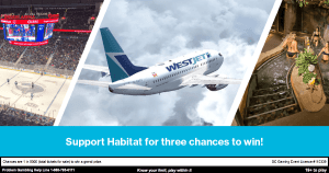 Support Habitat for three chances to win!