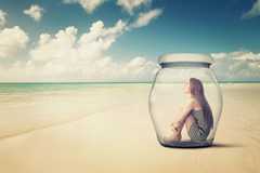 Woman in Jar