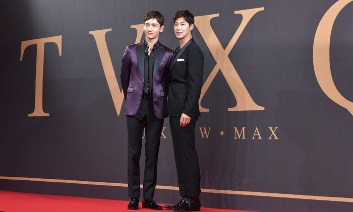 TVXQ held their first press conference on 'Asian Press Tour'