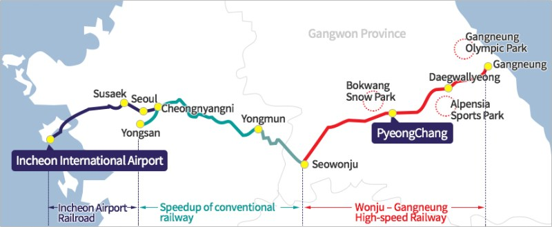 KTX Gyeonggang Line starts from Today(22nd Dec)