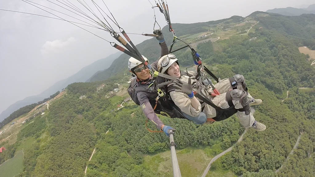 Paragliding experience in Korea