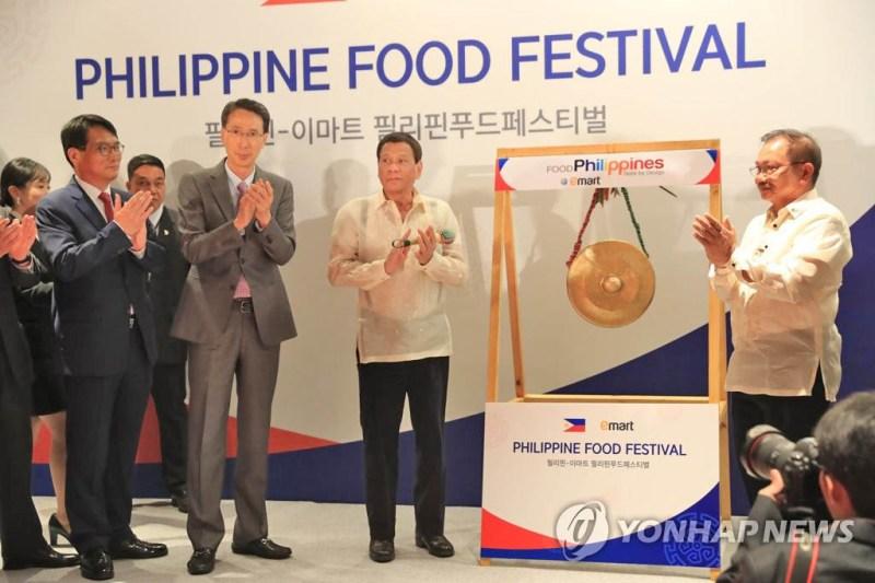 Philippine President Rodrigo Duterte visited Philippine Food Festival in Seoul