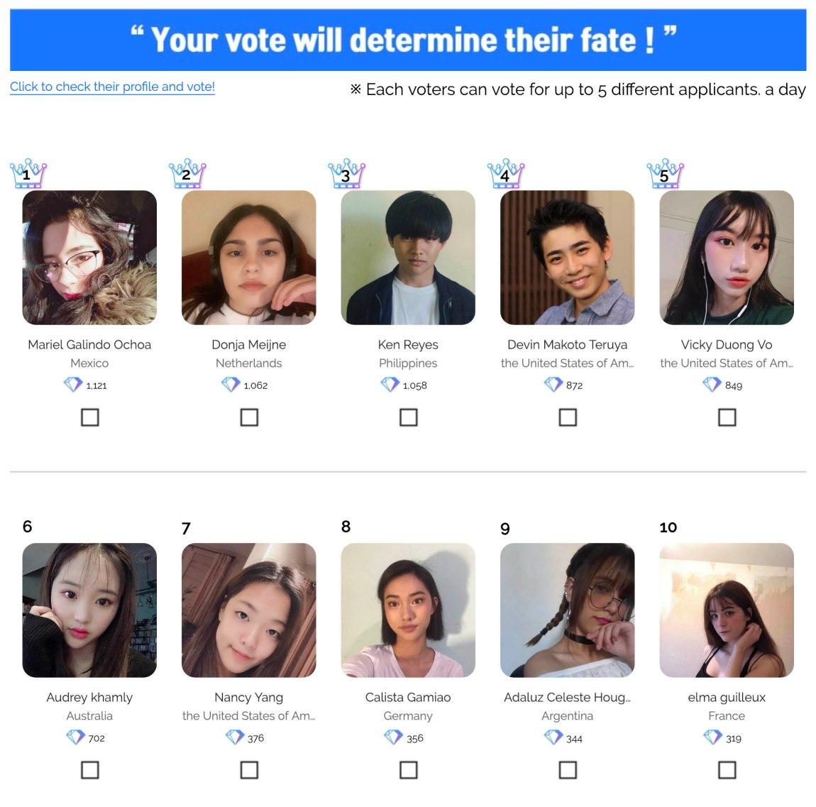 Global KPOP Star joint Audition fan vote has begun | HaB