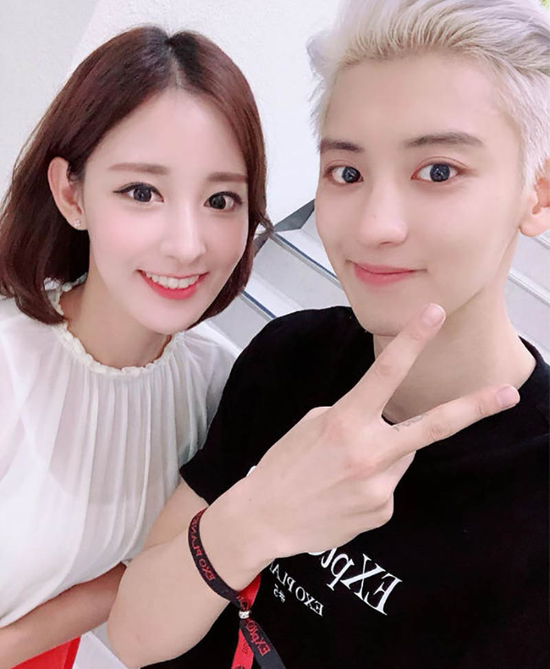 Exo Chanyeol Shows Power Of A Gene With His Sister Hab Korea Net