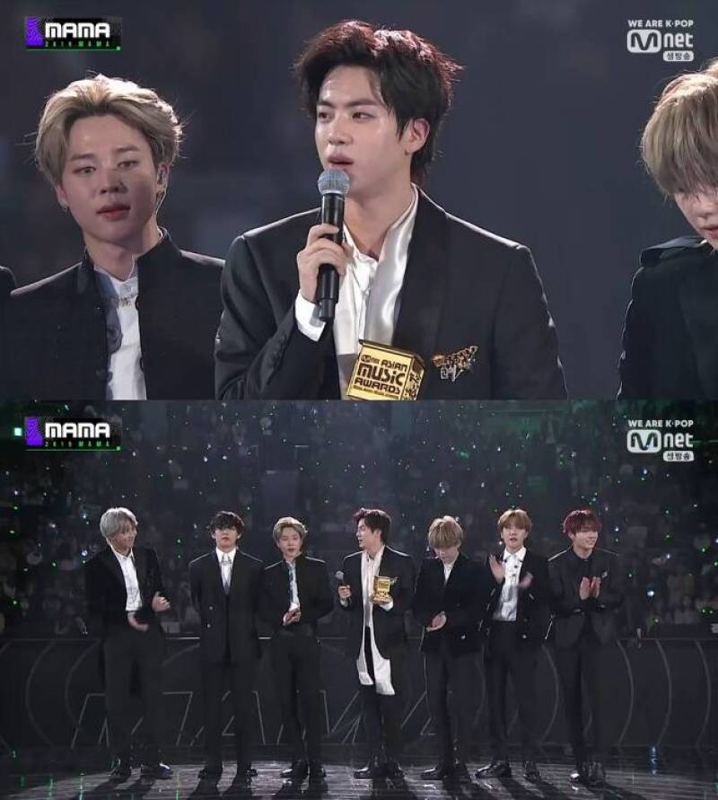 BTS swept the awards with total 9 trophies at 2019 Mnet Asian Music Awards