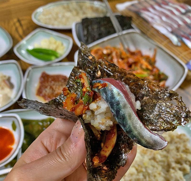 jeju island gourmet sashimi