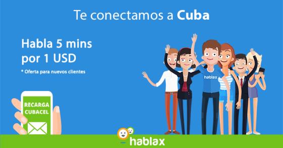 Oferta de llamada a Cuba