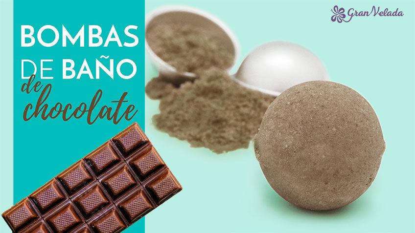 Bombas de baño de chocolate
