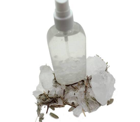 Cömo hacer un desodorante muy natural de piedra de alumbre