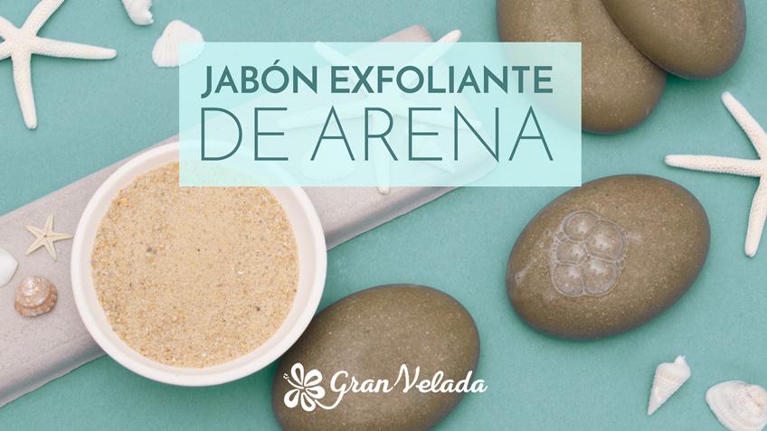 Aprende como hacer jabon exfoliante de arena de glicerina con vídeo y paso a paso
