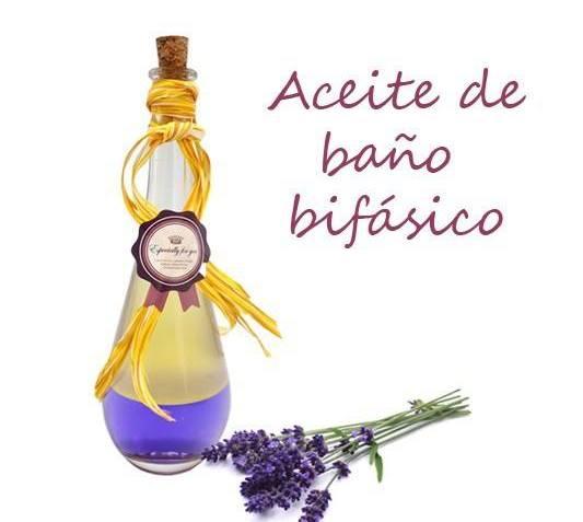Aceite bifásico de baño con aroma a lavanda