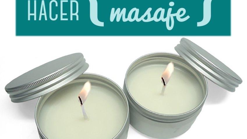 Cómo hacer velas de masaje