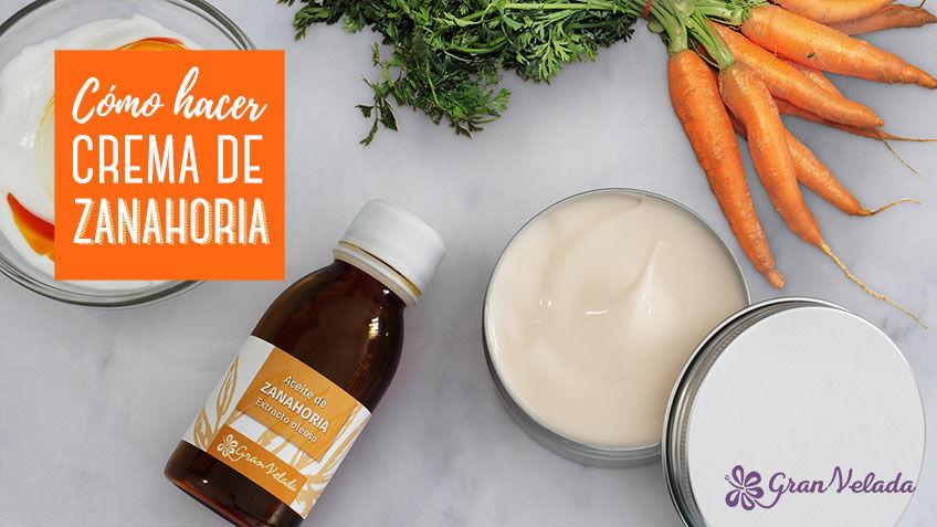Crema de zanahoria para la piel