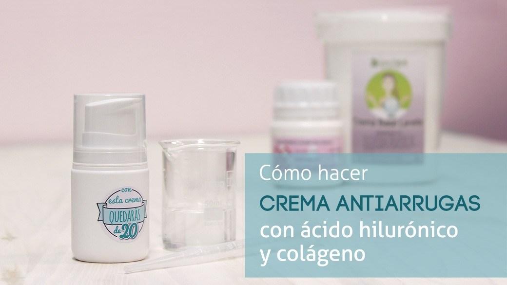 Crema con ácido hialurónico y colágeno