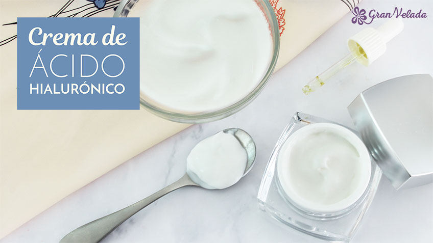 Tutorial para hacer Crema acido hialuronico en casa en dos pasos con vídeo