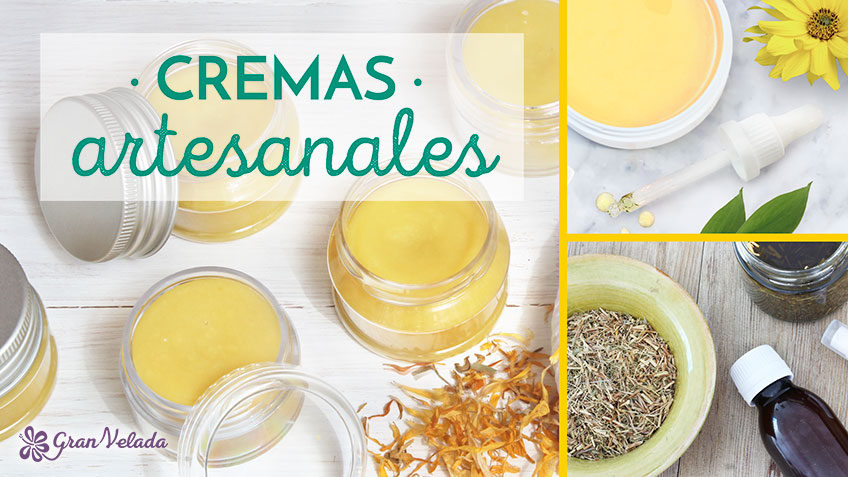 Cremas con plantas naturales