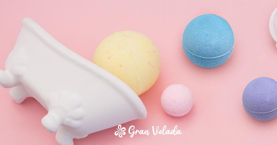 Hacer bombas de baño de colores