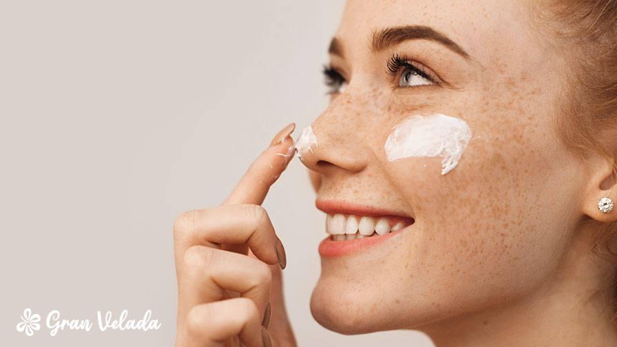 La piel con manchas