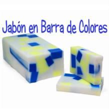 Hacer jabón de glicerina de colores en barra