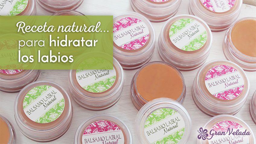 Hidratante de labios natural