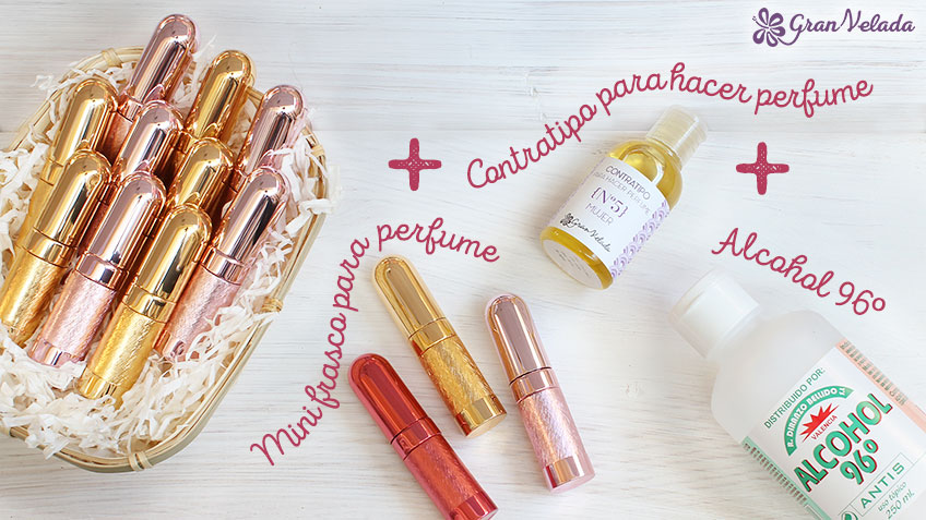 Mini perfume para detalles de boda