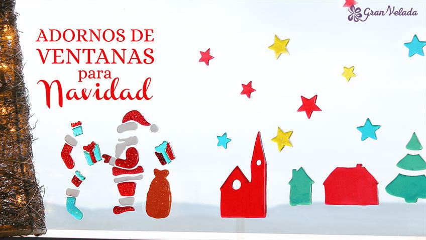 Adornos de ventanas para Navidad