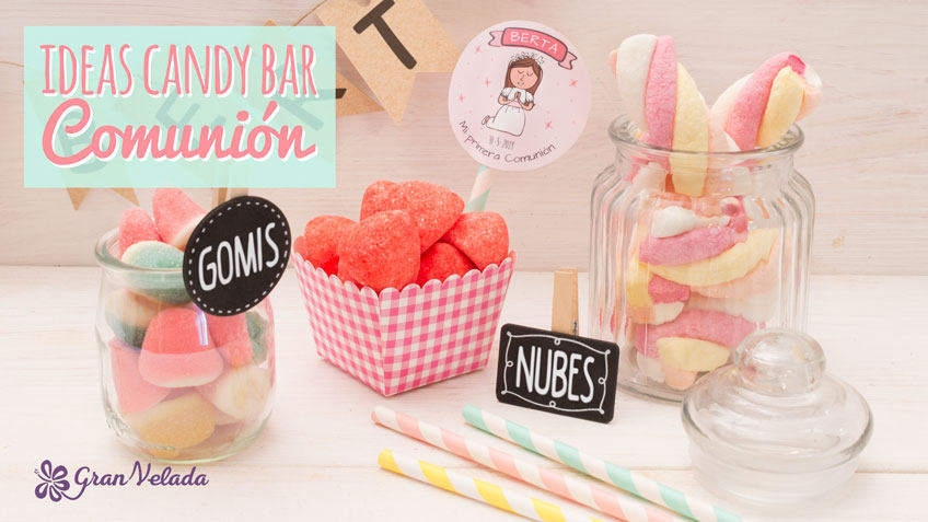 Ideas para una candy bar de comunion