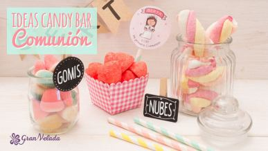 Candy bar comunion ideas