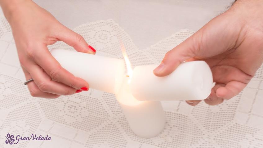 Ceremonia de las velas para boda civil