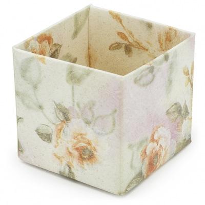 Caja con estampado floral