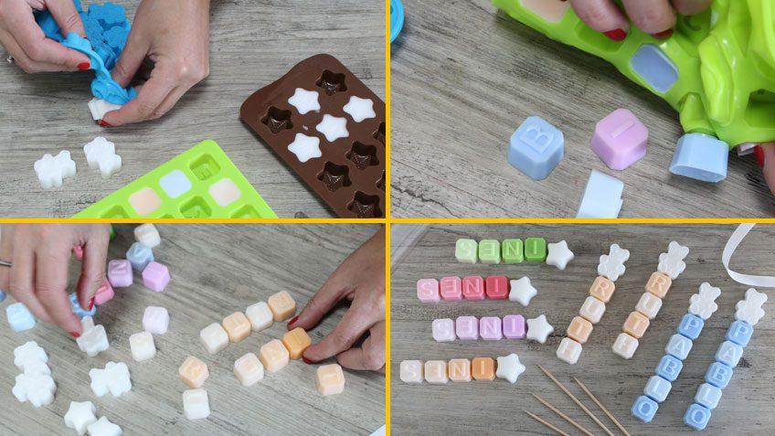 Jabones letras que hacer con niños