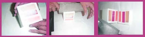 Hacer jabon tricolor Opaco Paso 4