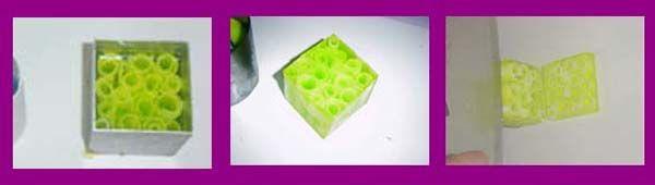 Paso 2 Hacer jabon cuadrado con virutas