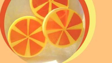 Tutorial paso a paso como hacer jabon rodajas de Naranja.