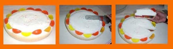 Paso 8 como hacer jabones con forma de tarta de merengue