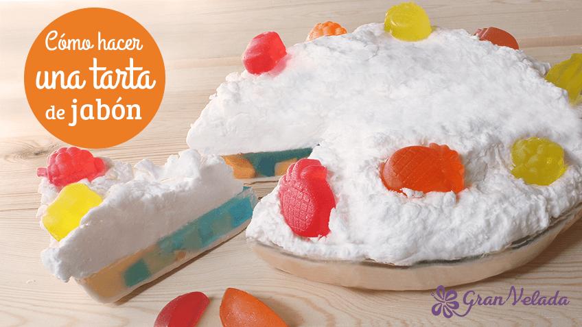 Tutorial para hacer tarta de jabón de merengue casera con vídeo