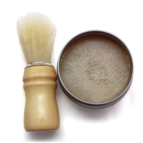 hacer jabón de afeitado