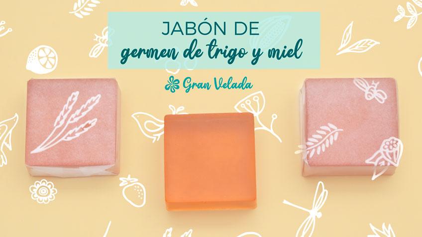 Nueva receta de jabón e glicerina con video y paos a paso, Jabon de germen de trigo y miel