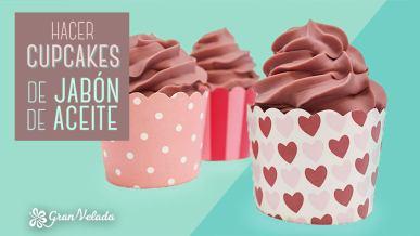 Hacer cupcakes de jabon