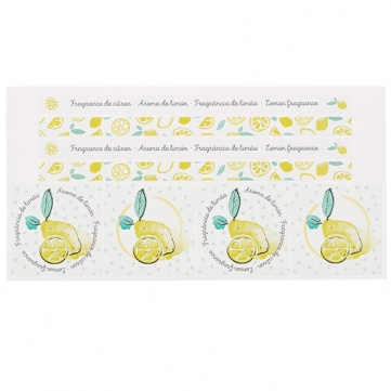 Pegatinas aromaticas de limón