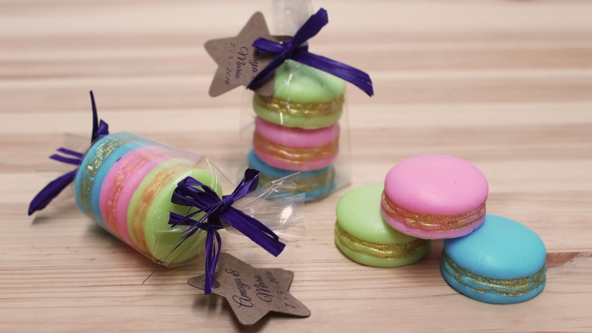 Macarons de jabon