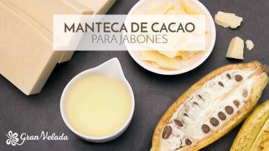 Jabones con manteca de cacao