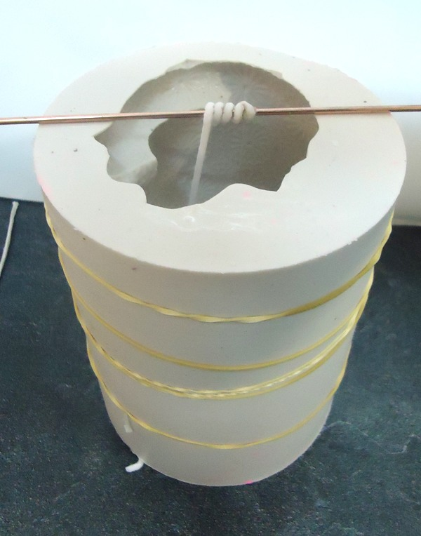 Molde para hacer velas de silicona