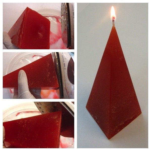 Cuarto paso para hacer velas Piramide