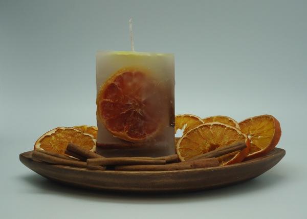 Hacer vela de Inclusiones de Canela y Naranja.