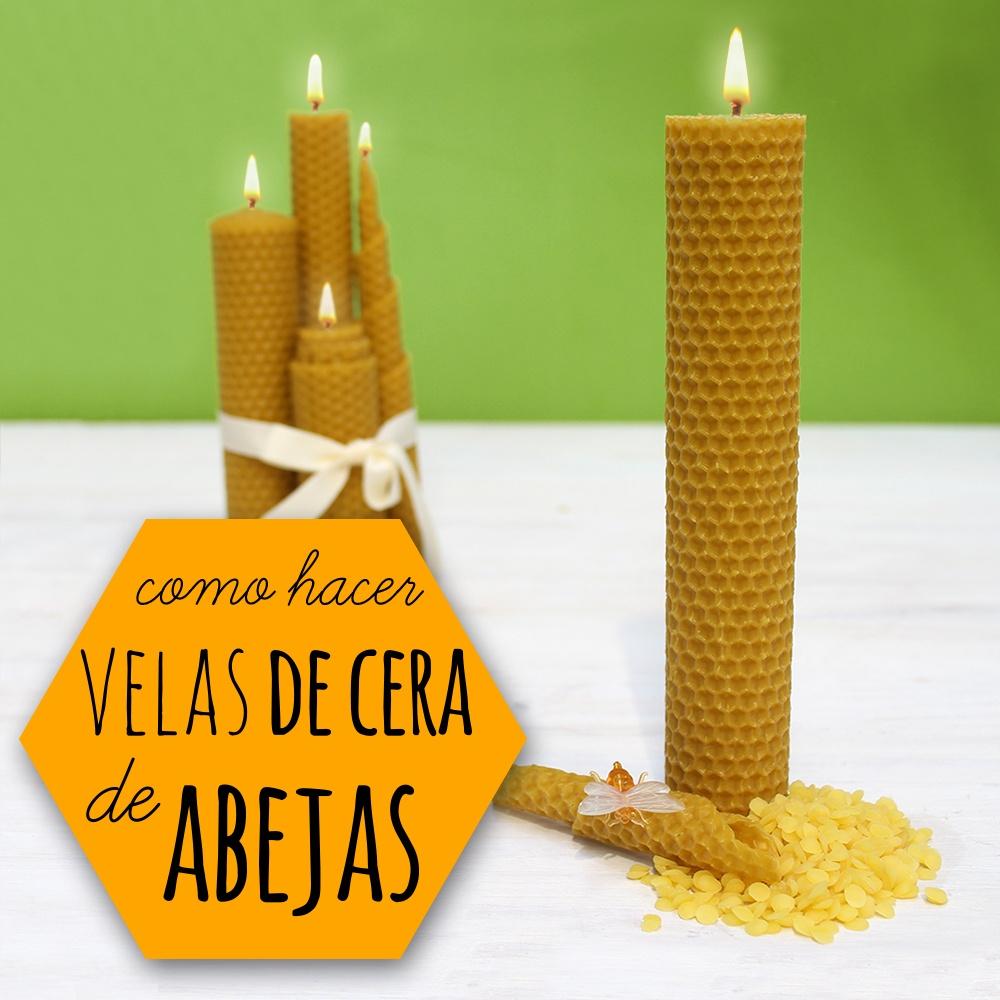 Aprende a hacer velas enrolladas de cera producto 100 natural - Velas de miel ...