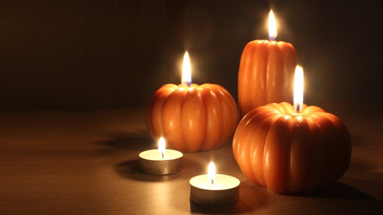 Velas Halloween calabaza
