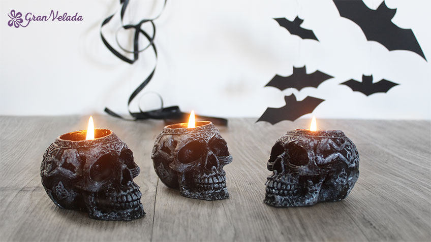 Velas Halloween manualidades