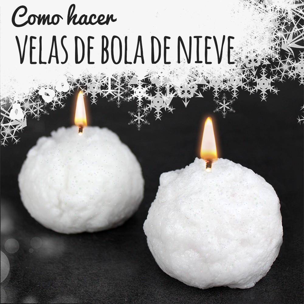 Tutorial para hacer velas bola de nieve caseras para estas Navidades